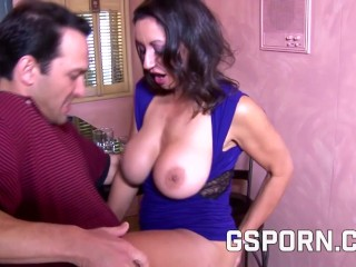 Hot hairy milf fucked with cumshot in her pussy
