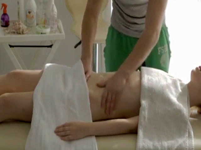Teen school girl Mirta gets a sensual massage