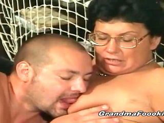 Two grannies pleasing guys