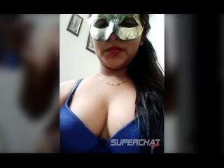 Desi indian anu bhabhi in mask