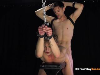Young twink Hardcore Bareback Breeding By Hung Bondage Master