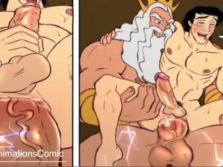 HENTAI - Gay Cartoon Animation - Anime Yaoi Hard Royal Meeting FULL SOUND
