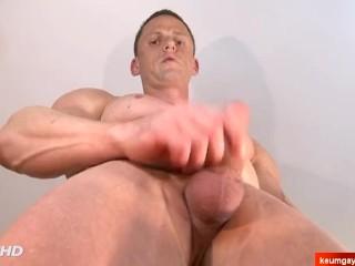Kevin handsome innocent gym coach found in a sport club made a gay porn.