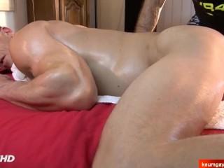 HOT gym coach made a porn in spite of himself-4 hands massage Stefen