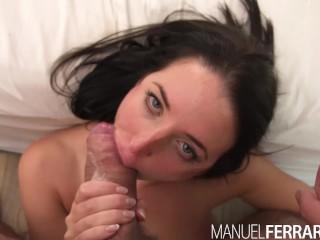 Manuel Ferrara - Angela White Anal, Big Tit Slut Makes Manuel Cum 3 Times