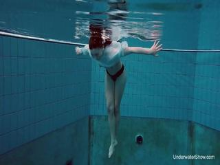 Underwater swimming babe Alice Bulbul