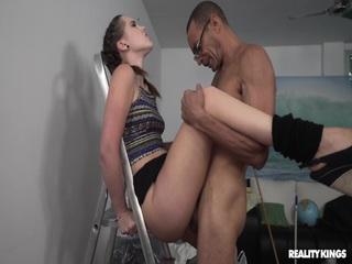 Hot Sex On A Ladder
