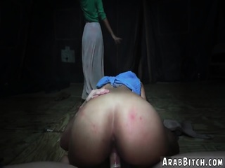 Straight arab and american fuck Sneaking in the Base!
