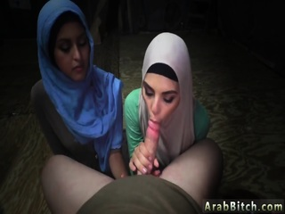 Hot teen arab couple Sneaking in the Base!