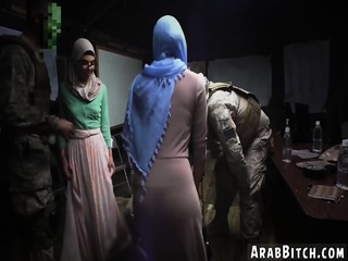Arab man fingering Sneaking in the Base!