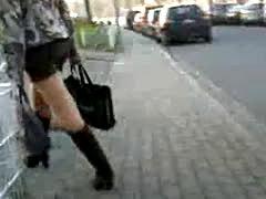 Teen In Miniskirt